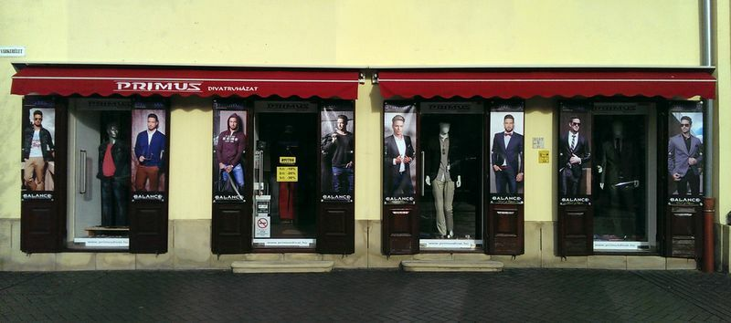 Primus divat férfi üzlet, 9400 Sopron, Várkerület 43.
