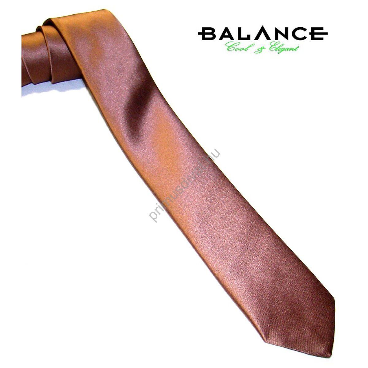Balance keskeny selyem nyakkendő, barna