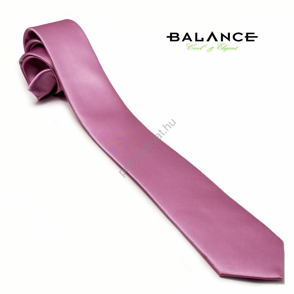 Balance keskeny selyemszatén nyakkendő, orgona-lila