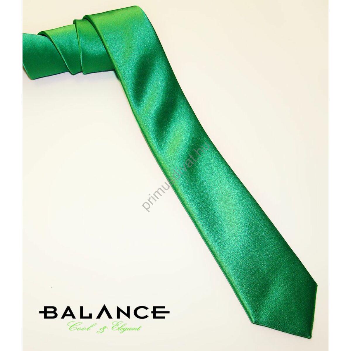 Balance keskeny selyem nyakkendő, fűzöld