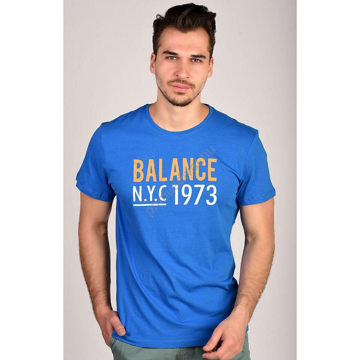 Kép 1 2 - Balance környakas királykék rövid ujjú póló 8dfff0dfa4