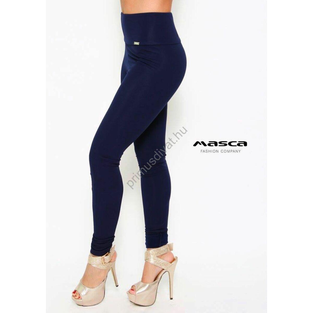 d090b052ce Kép 1/1 - Masca Fashion magasított derekú sötétkék leggings, cicanadrág
