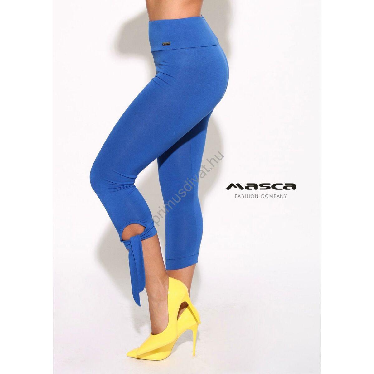 8a65c24a09 Kép 1/1 - Masca Fashion magasított derekú háromnegyedes királykék cicanadrág,  leggings, szárán megkötővel