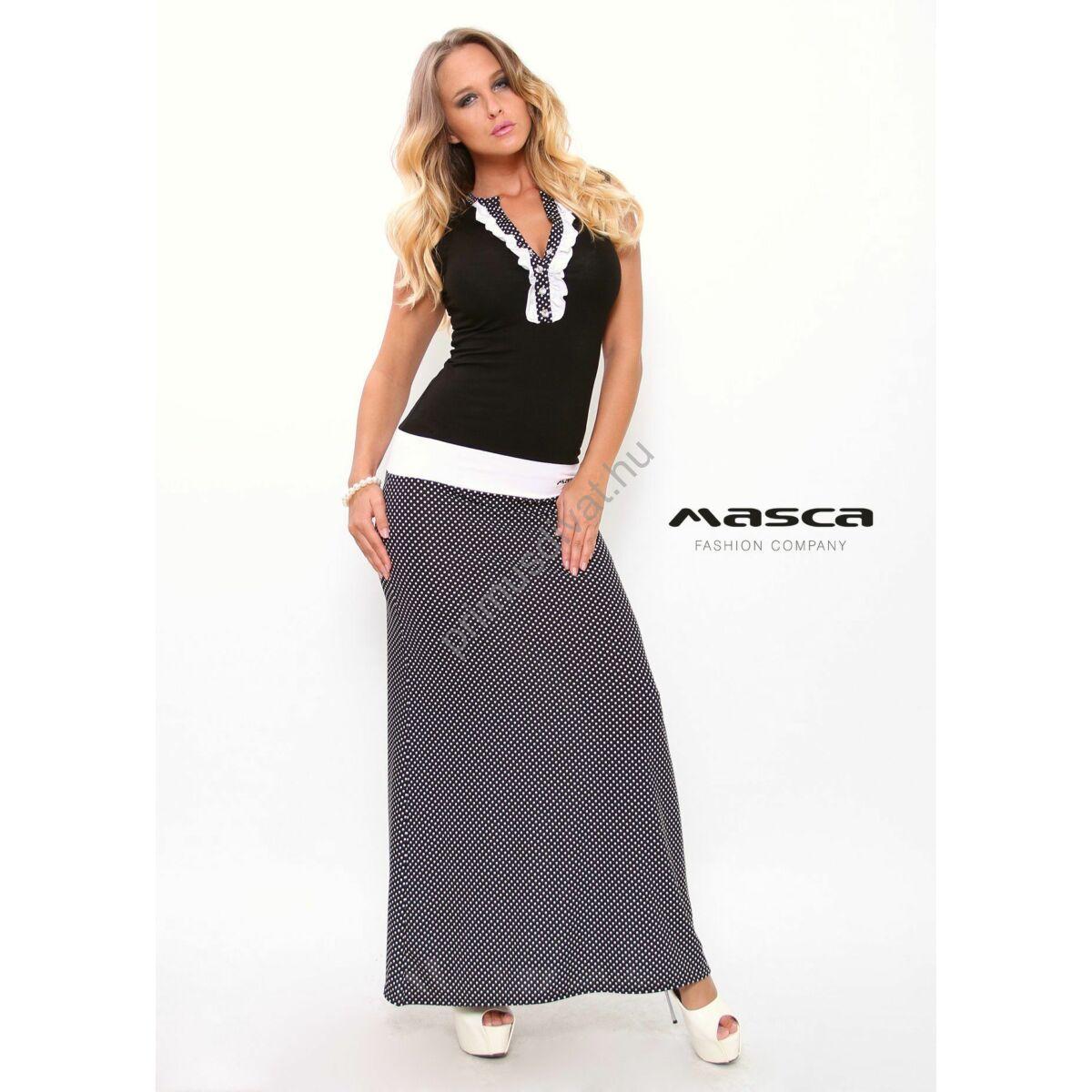 Kép 1 1 - Masca Fashion fodorszegélyes ékszerpatentos dekoltázsú ujjatlan 4c7bfa8657