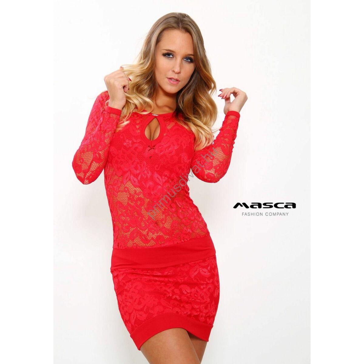 Masca Fashion Szorcsik Viki piros alkalmi csipkeruha f8606008de
