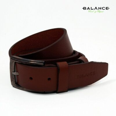 32468e16ff Balance nyelves csatos egyrétegű rozsdabarna bőr öv, márkafelirattal