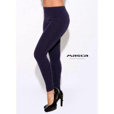 e2ce92595f Masca Fashion magasított derekú, ezüst csillámos sötétkék leggings,  cicanadrág
