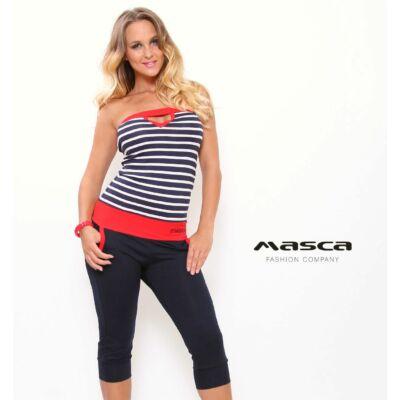 Masca Fashion pánt nélküli kék-fehér csíkos felsős háromnegyedes 7f23e46f5d