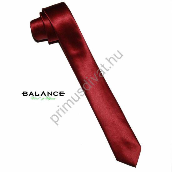 Balance keskeny selyemszatén nyakkendő, bordó