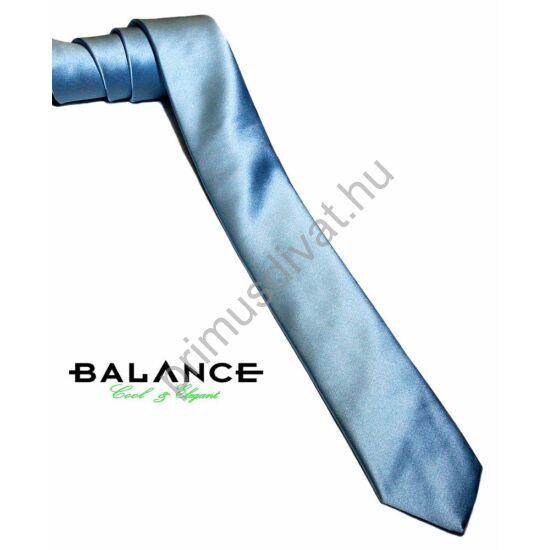 Balance keskeny selyem szatén nyakkendő, világoskék