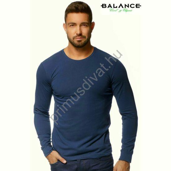 Balance környakas, rugalmas hosszú ujjú póló, sötétkék