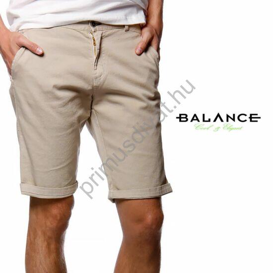 Balance svédzsebes rugalmas vászon rövidnadrág, drapp