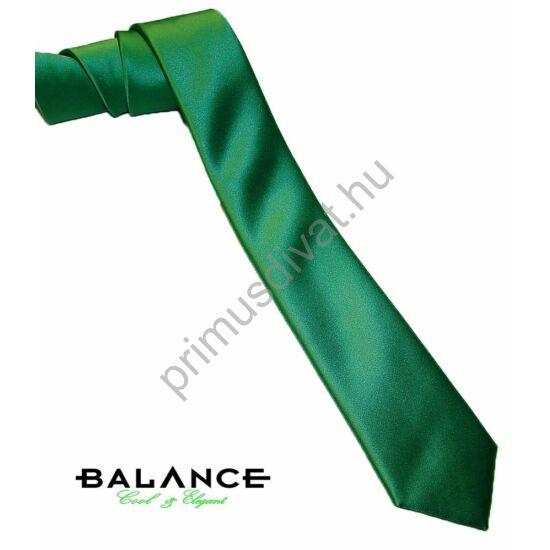 Balance keskeny selyem nyakkendő, sötétzöld