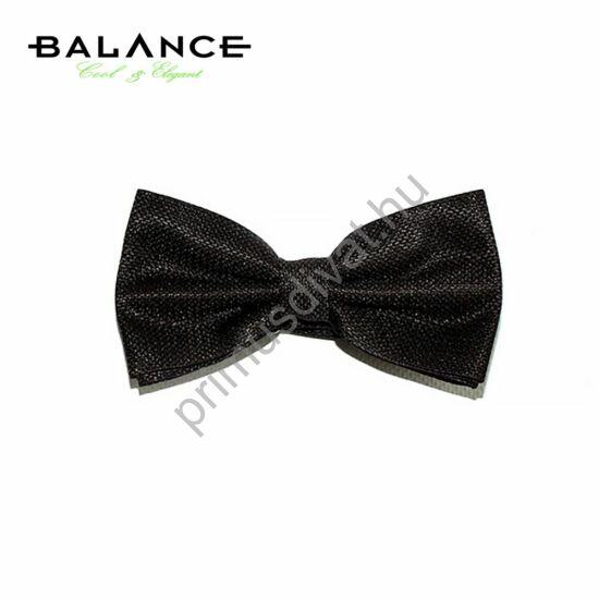 Balance szövött apró mintás fekete csokornyakkendő