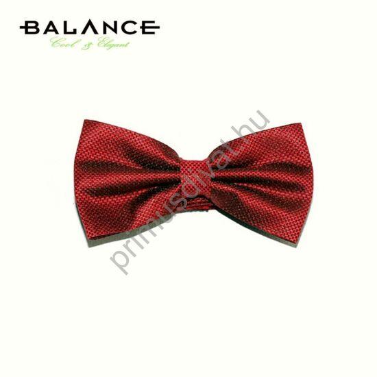 Balance szövött apró mintás piros csokornyakkendő