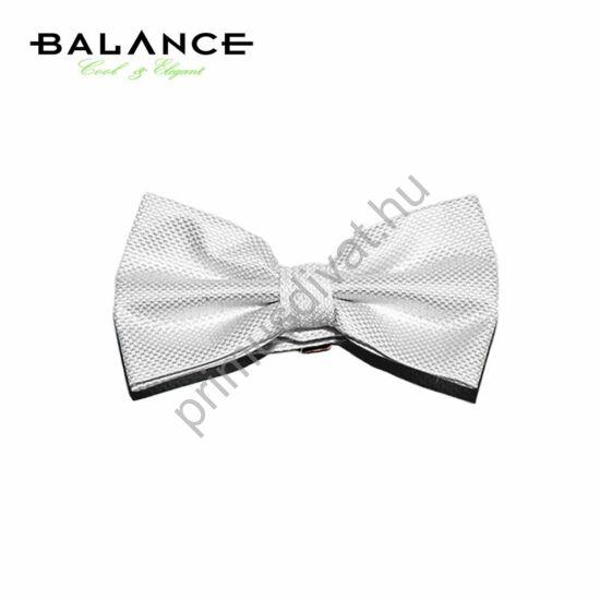 Balance szövött apró mintás fehér csokornyakkendő