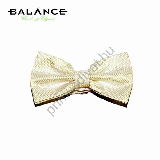 Balance szövött apró mintás ekrü (csontszínű) csokornyakkendő