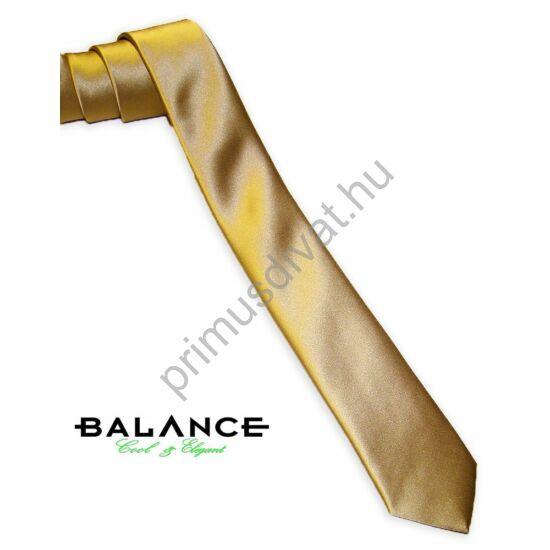 Balance keskeny selyem nyakkendő, arany