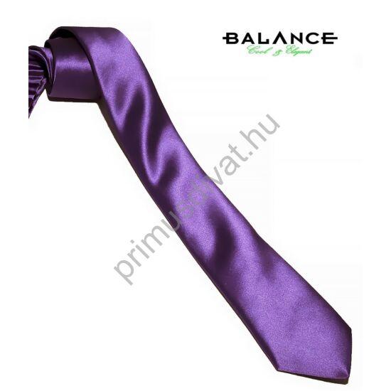 Balance keskeny selyem szatén nyakkendő, püspöklila