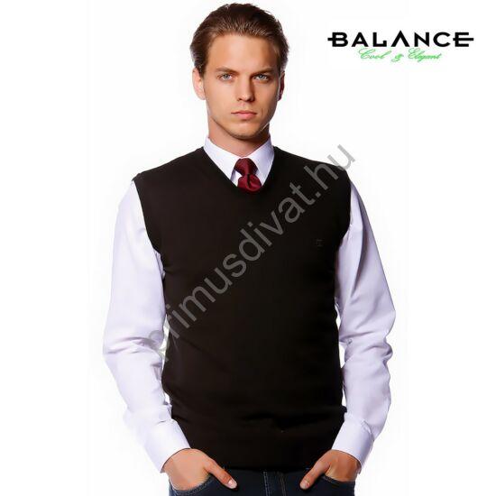 Balance vékony kötött, V kivágású, pamut mellény, fekete