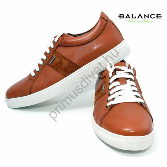 Balance utcai bőr férfi sportcipő, camel