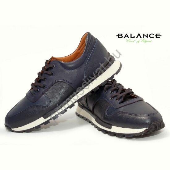 Balance casual stílusú bőr férfi sportcipő, sötétkék
