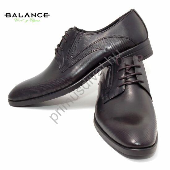 Balance bőr alkalmi férfi cipő, fekete