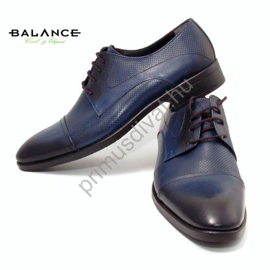 Balance bőr alkalmi férfi cipő, sötétkék