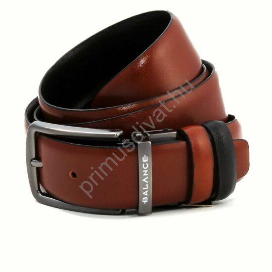 Balance megfordítható nyelves csatos, két oldalán is hordható barna-fekete öv, gravírozott bújtatóval.