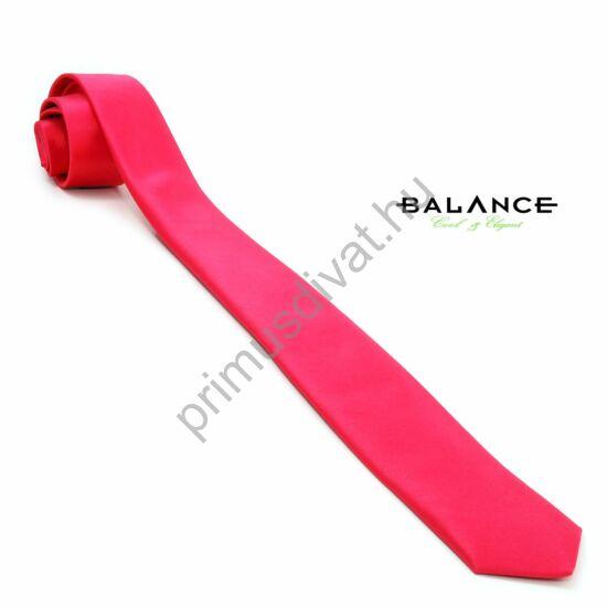 Balance málna-piros színű keskeny selyemszatén nyakkendő
