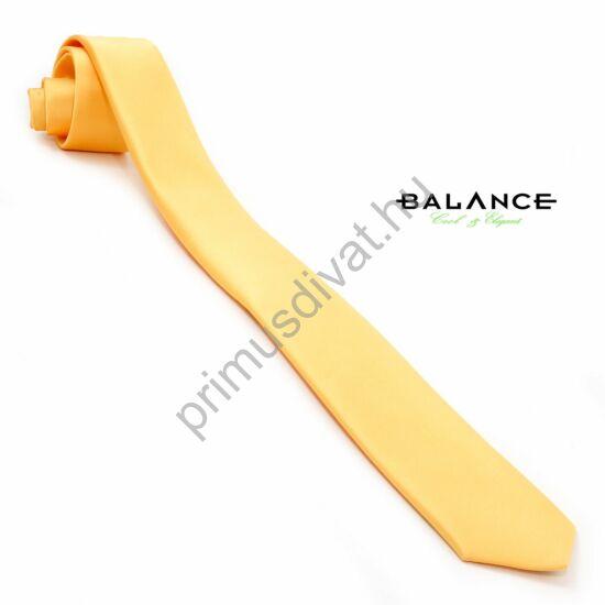 Balance sötét nap-sárga színű keskeny selyemszatén nyakkendő