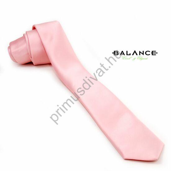 Balance púder-rózsaszín színű keskeny selyemszatén nyakkendő