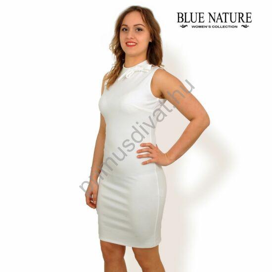 Blue Nature masnis nyakú, vaj színű, rugalmas anyagú ujjatlan ruha