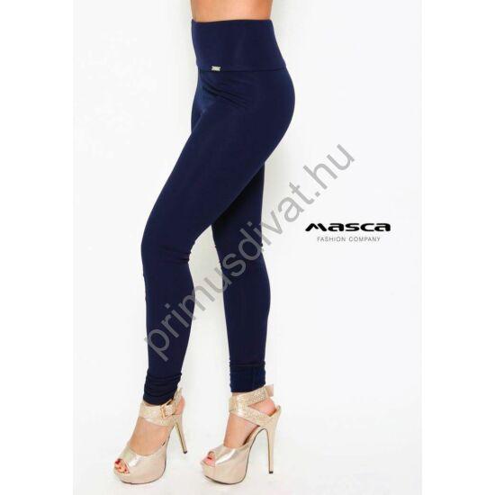 Masca Fashion magasított derekú sötétkék leggings, cicanadrág